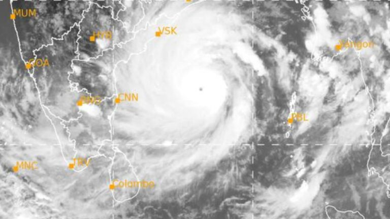 Super Cyclonic Storm 'AMPHAN' over west-central and adjoining central parts of South Bay of Bengal