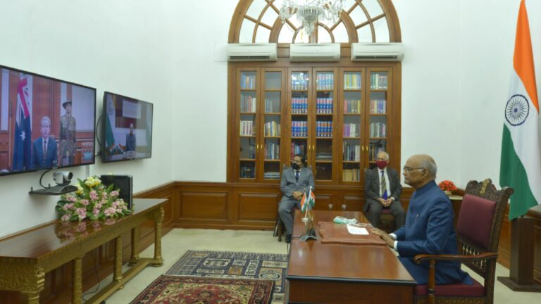 Envoys of Seven Nations Present Credentials to President of India through Video Conferencing