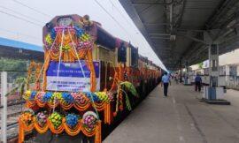 10 BG Locomotives flagged off to Bangladesh by External Affairs minister Jaishankar and Rail Minister Piyush Goyal
