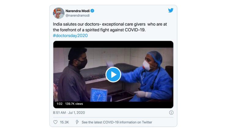 PM Modi salutes doctors on the occasion of Doctors' Day