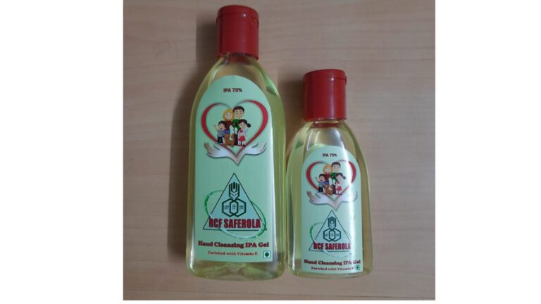 To combat Covid -19 , RCF comes out with a new product : Hand Cleansing Iso Propyl Alcohol (IPA) Based Gel