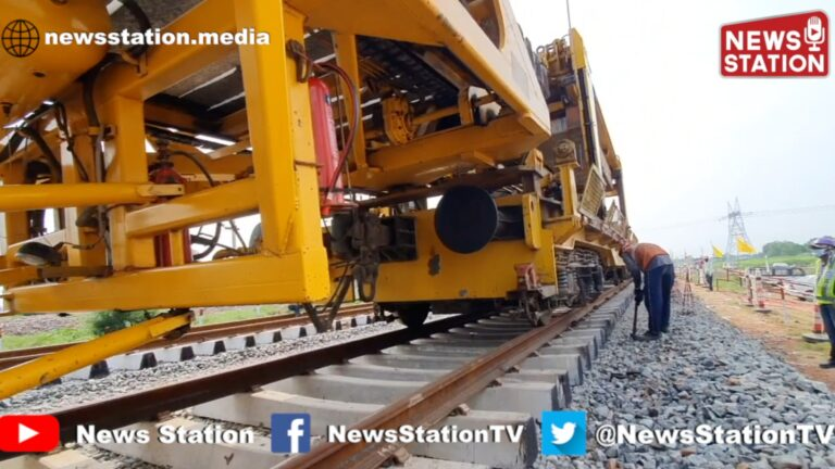 Mechanised Laying of Railway Track by NTC in Dedicated Freight Corridor | News Station